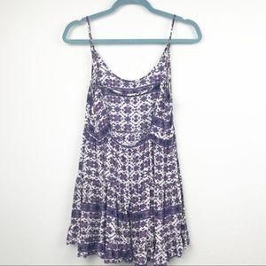 Brandy Melville Purple Patterned Mini Dress